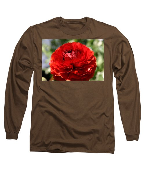 Spring Scarlet Double Begonia Long Sleeve T-Shirt