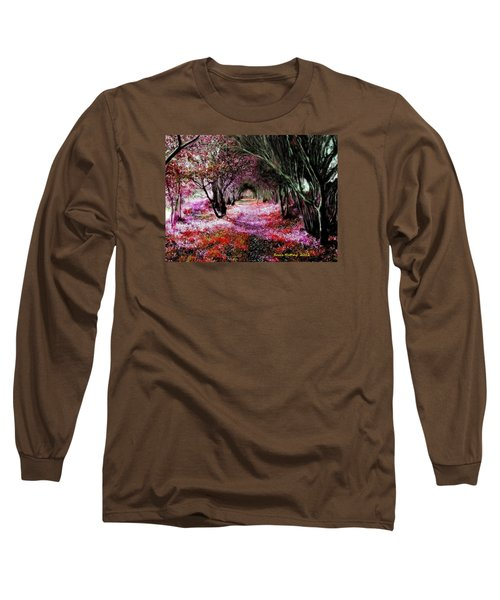 Long Sleeve T-Shirt featuring the painting Spring Walk In The Park by Bruce Nutting