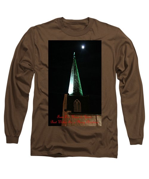 St. Augustine Moon Christmas Card Long Sleeve T-Shirt
