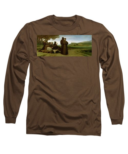 Saint Francis Of Assisi, While Being Carried To His Final Resting Place At Saint-marie-des-anges Long Sleeve T-Shirt