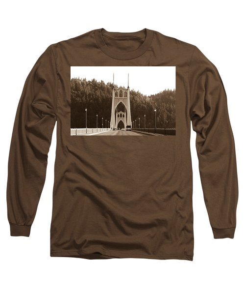 Long Sleeve T-Shirt featuring the photograph St. John's Bridge by Patricia Babbitt