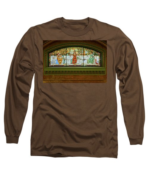 St Louis Union Station Allegorical Window Long Sleeve T-Shirt by Greg Kluempers