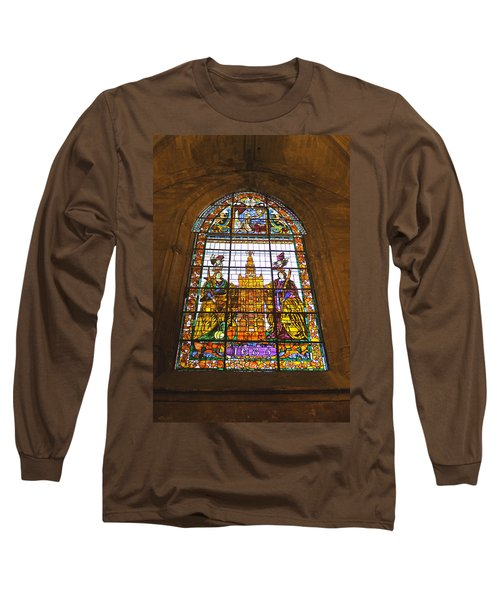 Stained Glass Window In Seville Cathedral Long Sleeve T-Shirt