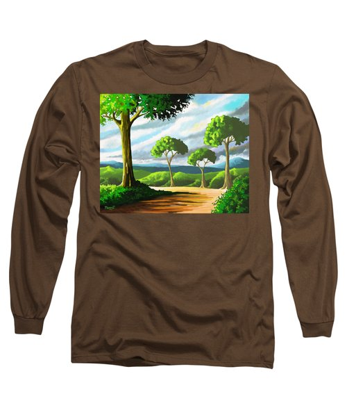 Long Sleeve T-Shirt featuring the painting Standing Tall by Anthony Mwangi