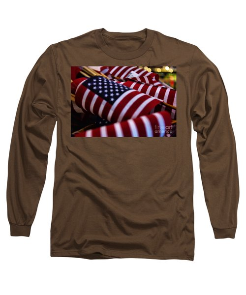 Long Sleeve T-Shirt featuring the photograph Stars And Stripes by John S