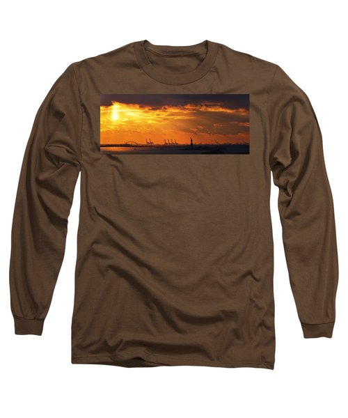 Statue Of Liberty At Sunset. Long Sleeve T-Shirt