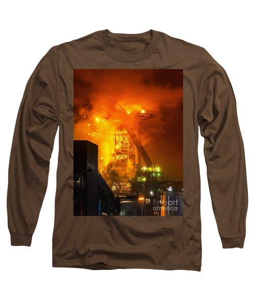 Steam And Light Long Sleeve T-Shirt by Daniel Heine
