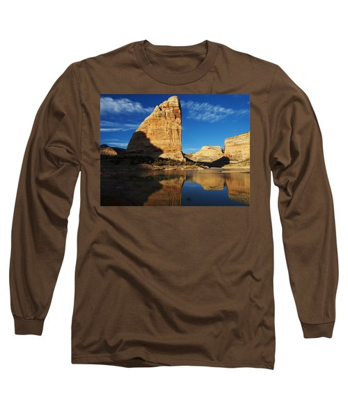 Steamboat Rock In Dinosaur National Monument Long Sleeve T-Shirt
