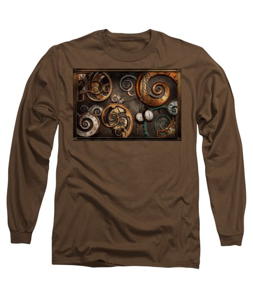 Steampunk - Abstract - Time Is Complicated Long Sleeve T-Shirt by Mike Savad