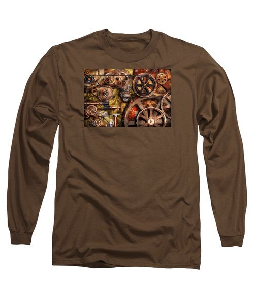 Steampunk - Gears - Inner Workings Long Sleeve T-Shirt by Mike Savad