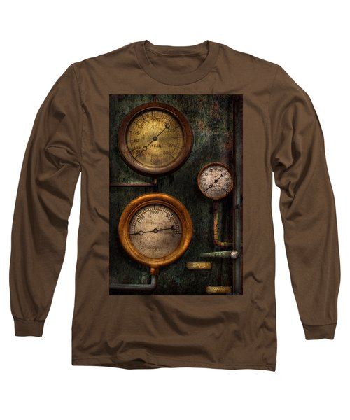 Steampunk - Plumbing - Gauging Success Long Sleeve T-Shirt