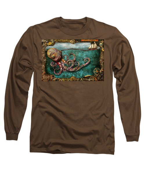 Steampunk - The Tale Of The Kraken Long Sleeve T-Shirt