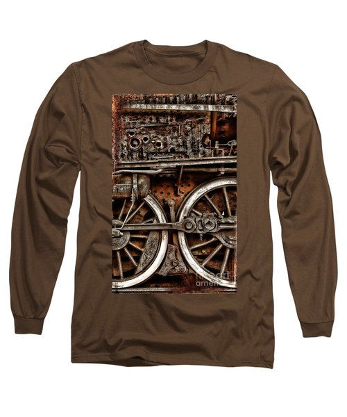Steampunk- Wheels Locomotive Long Sleeve T-Shirt