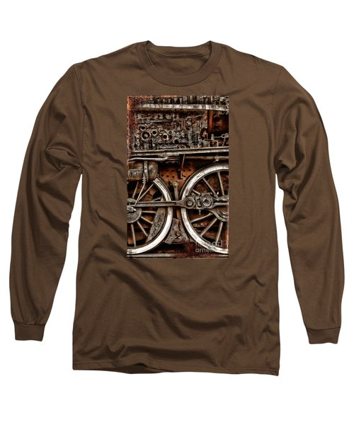 Steampunk- Wheels Locomotive Long Sleeve T-Shirt