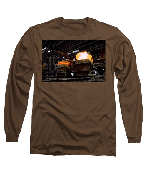 Steel Industry In Smederevo. Serbia Long Sleeve T-Shirt
