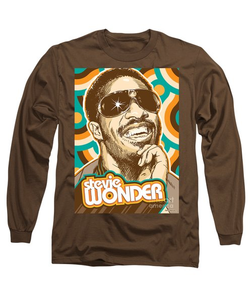 Stevie Wonder Pop Art Long Sleeve T-Shirt