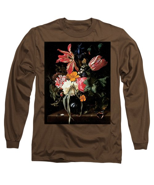 Still Life Of Flowers, 1669 Oil On Canvas Long Sleeve T-Shirt