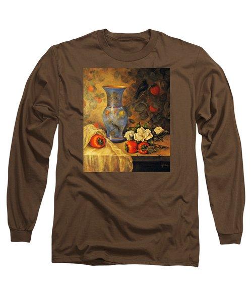 Still Life Of Persimmons  Long Sleeve T-Shirt