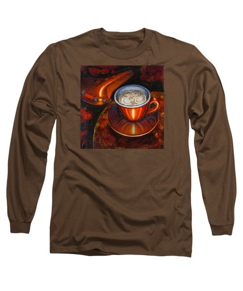 Long Sleeve T-Shirt featuring the painting Still Life With Bicycle Saddle by Mark Howard Jones