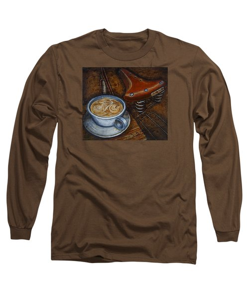 Still Life With Ladies Bike Long Sleeve T-Shirt by Mark Jones