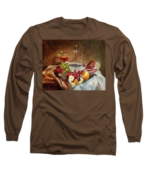 Still Life With Meat And Wine Long Sleeve T-Shirt