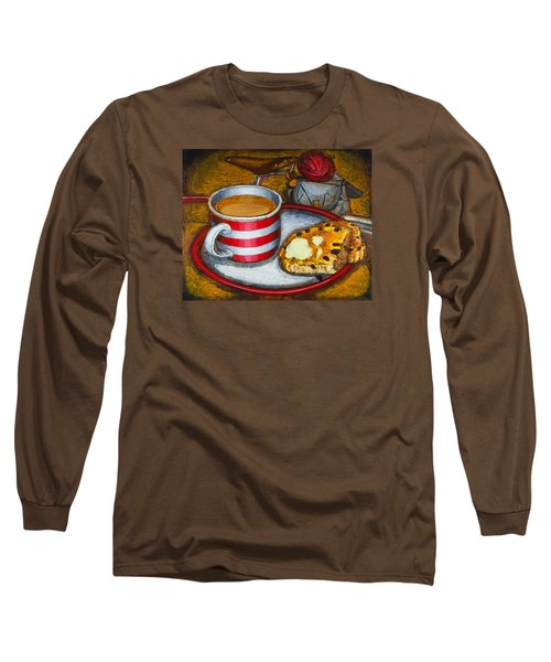 Long Sleeve T-Shirt featuring the painting Still Life With Red Touring Bike by Mark Howard Jones