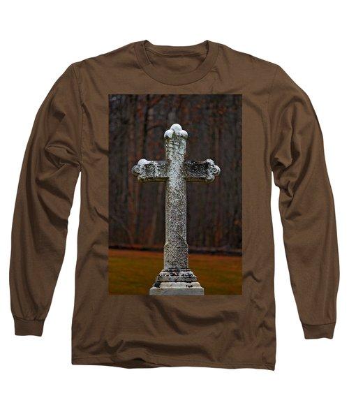 Stone Cross Long Sleeve T-Shirt by Rowana Ray