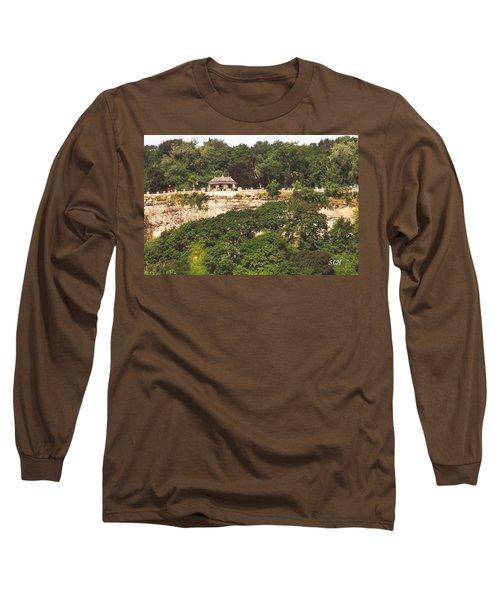 Stone Wall With Gazebo Long Sleeve T-Shirt