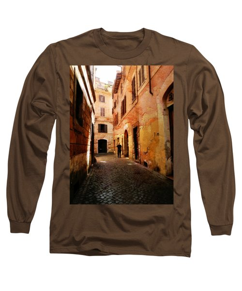 Strade Di Ciottoli Long Sleeve T-Shirt by Micki Findlay