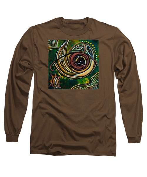 Long Sleeve T-Shirt featuring the painting Strength Spirit Eye by Deborha Kerr