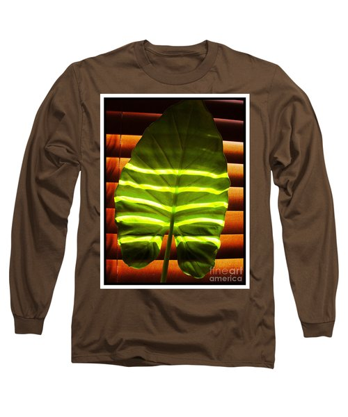 Long Sleeve T-Shirt featuring the photograph Stripes Of Light by Nina Ficur Feenan