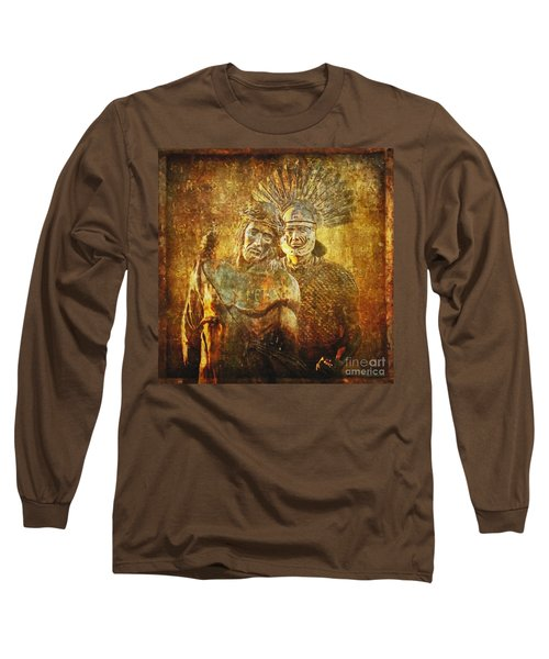 Stripped Of His Garments Via Dolorosa 10 Long Sleeve T-Shirt by Lianne Schneider