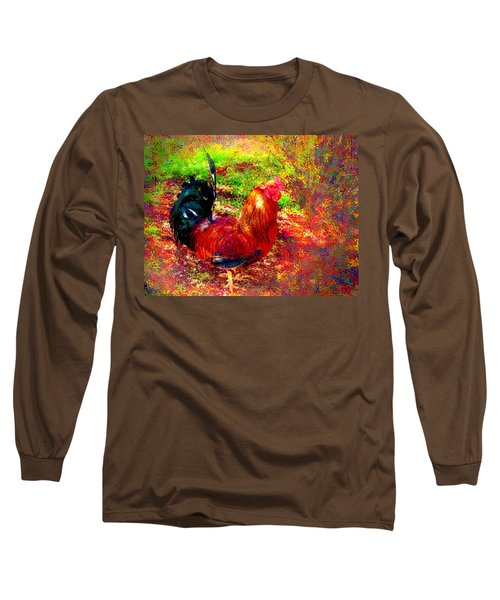 Strutting In Living Color Long Sleeve T-Shirt