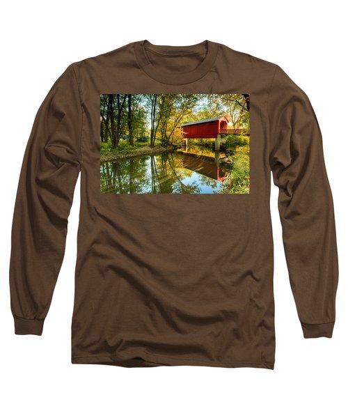 Sugar Creek Covered Bridge Long Sleeve T-Shirt