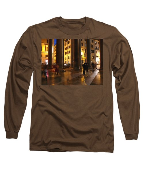 Summer Evening In Rome Long Sleeve T-Shirt by Evelyn Tambour