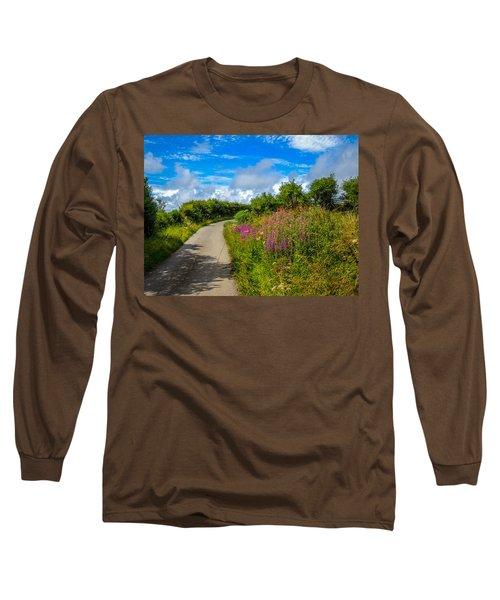 Summer Flowers On Irish Country Road Long Sleeve T-Shirt