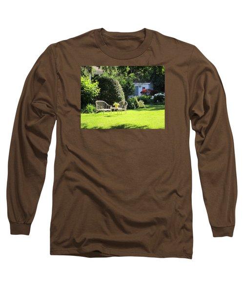Long Sleeve T-Shirt featuring the photograph Summer Garden by Jieming Wang