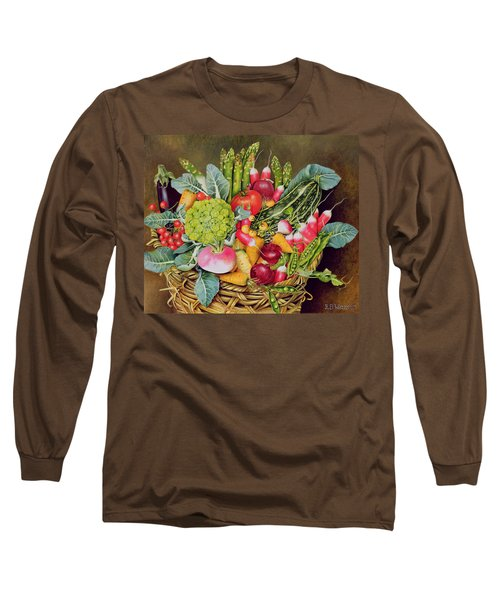 Summer Vegetables Long Sleeve T-Shirt by EB Watts
