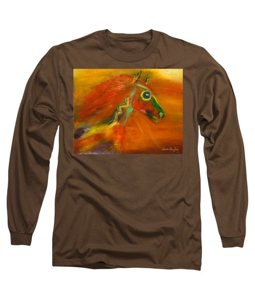 Long Sleeve T-Shirt featuring the painting Sun Dance by Barbie Batson