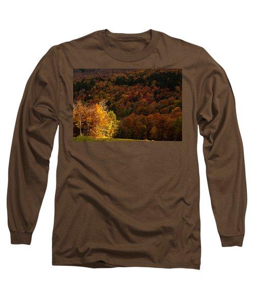Sun Peeking Through Long Sleeve T-Shirt by Jeff Folger