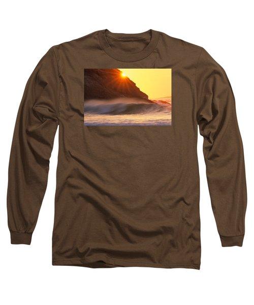 Sun Star Singing Beach Long Sleeve T-Shirt by Michael Hubley