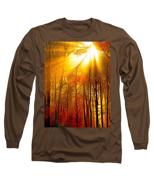 Sunburst In The Forest Long Sleeve T-Shirt