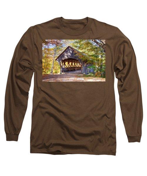 Sunday River Covered Bridge Long Sleeve T-Shirt