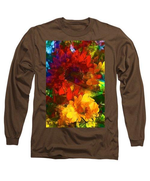 Sunflower 11 Long Sleeve T-Shirt by Pamela Cooper