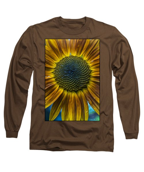 Sunflower In Rain Long Sleeve T-Shirt