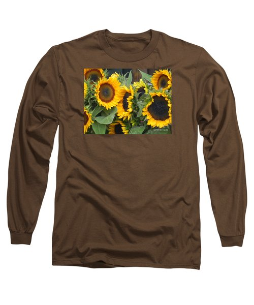 Long Sleeve T-Shirt featuring the photograph Sunflowers  by Chrisann Ellis