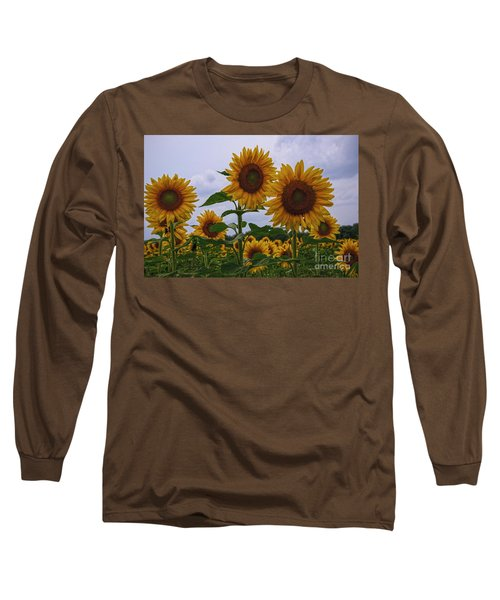 Long Sleeve T-Shirt featuring the photograph Sunny Faces by Debra Fedchin