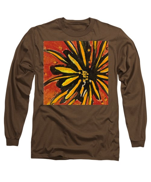 Long Sleeve T-Shirt featuring the painting Sunny Hues Watercolor by Joan Reese