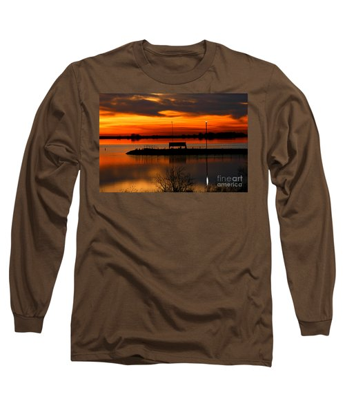 Sunrise At Jackson Long Sleeve T-Shirt by Steven Reed