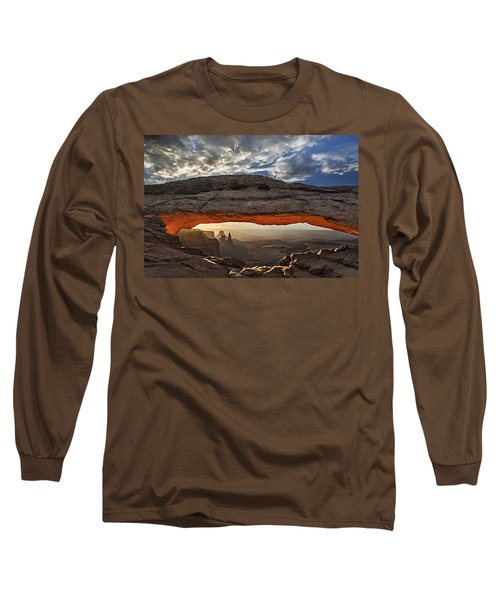 Long Sleeve T-Shirt featuring the photograph Sunrise At Mesa Arch by Roman Kurywczak